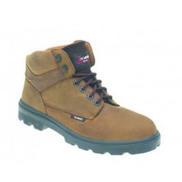 Brown nubuck leather safey boot