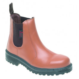 Tan leather dealer safety boot