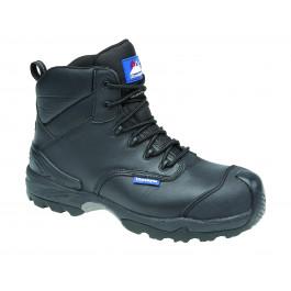 Black leather fully waterproof shoe