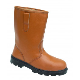 Tan leather safety rigger