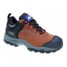 Brown nubuck fully waterproof shoe