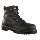 Heritage black greasy leather safety boot