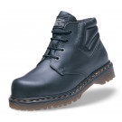 Icon black greasy leather safety boot