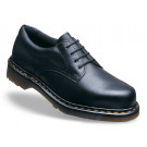 Icon black smooth leather safety shoe